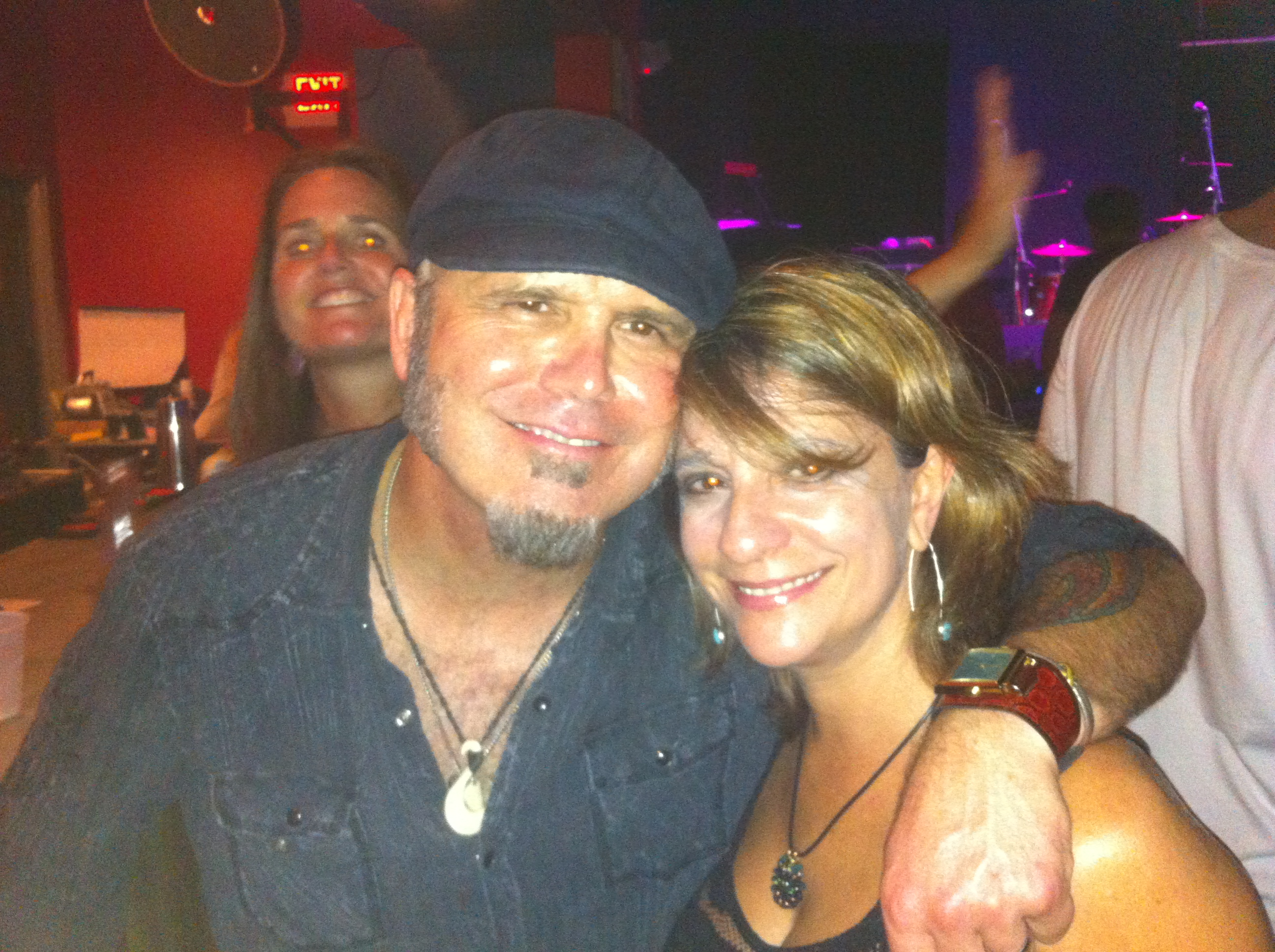 Vocalist Paula Gallo with bassist Judd Fuller of the Rodney Atkins band